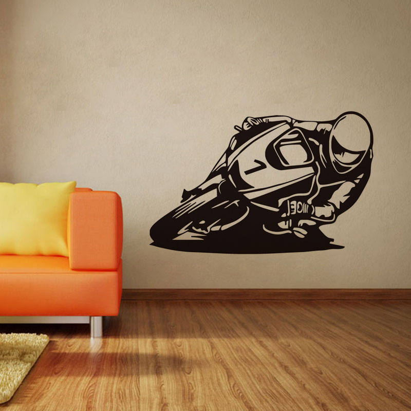 DCTOP No 1 Motorcycle Racer Decals Motocross Vinyl Wall Sticker Home Decor  For Bedroom Decoration. Online Get Cheap Motocross Wall Stickers  Aliexpress com   Alibaba