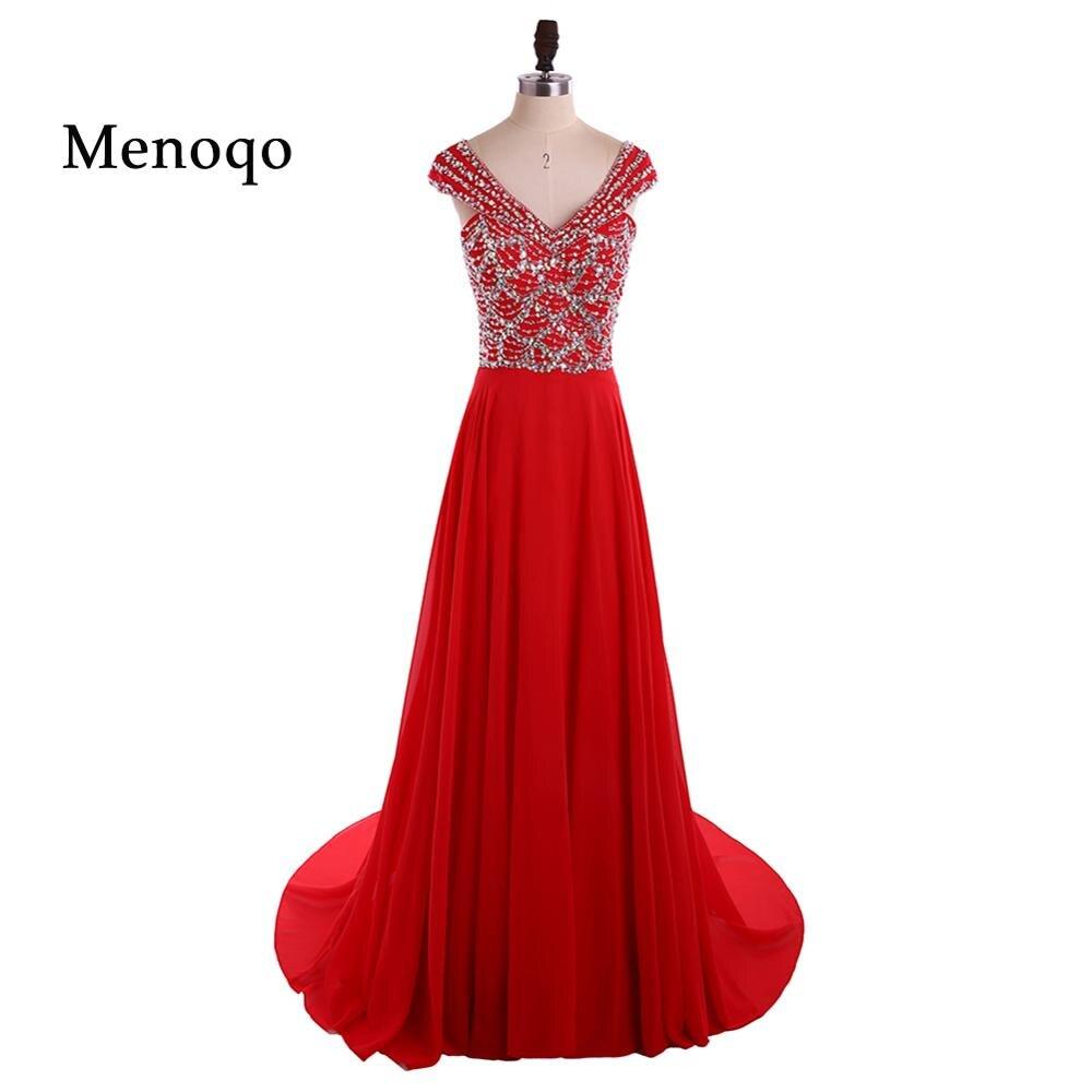 Chiffon Sparkly Red Sequin   Prom     Dresses   Long vestidos de baile Backless Crystal 2018 Formal Evening Party Gowns vestido de noche