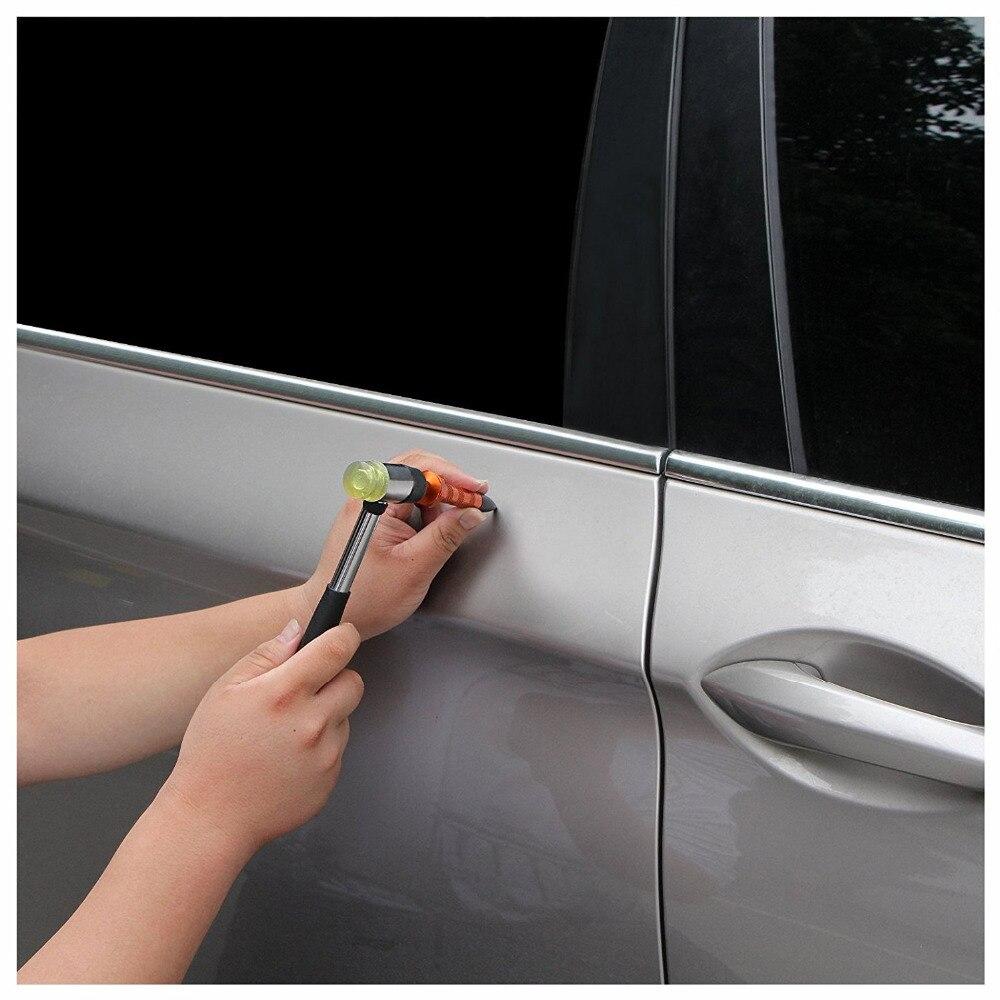 Strumenti gancio Set Puntale Piede di Porco Dent PDR Ammaccature senza vernice di Rimozione riparazione Tool Kit per Auto Auto Body DoorDing Grandine Manuali di Riparazione strumento - 3