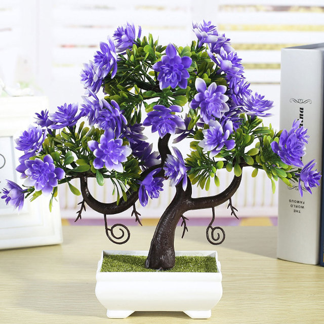 Wedding Favors And Gifts Artificial Plants 1PC Emulate Bonsai ...