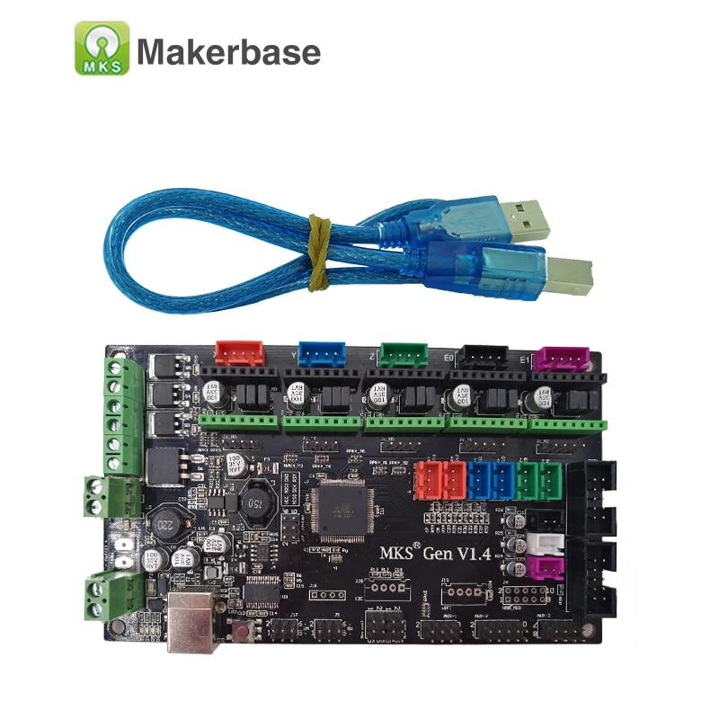 3D printer controller main board MKS Gen V1.4 compatible with Ramps1.4/Mega2560 R3 support a4988/DRV8825/TMC2100 biqu bigtreetech gen v1 0 3d printer controller board 4 layers pcb mks gen v1 4 ramps1 4 mega2560 r3 a4988 drv8825 tmc2100