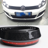 Car Carbon Fiber Front lip 2.5M For Jeep Renegade Wrangler JK Grand Cherokee For Volvo XC90 XC60 S90 S60 V70 S40 V40 V70