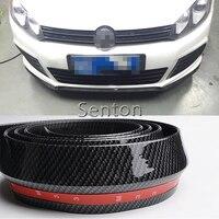 Car Carbon Fiber Front lip 2.5M For Jeep Renegade Wrangler JK Grand Cherokee For Volvo XC90 XC60 S90 S60 V70 S40 V40 V70