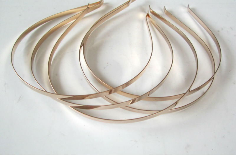Image 5 - Wholesale 5mm 7mm 10mm Blank Plain Metal Hairband Decorative Metal Headband for Girls Hair Band DIY Craft Hair Hoop 50pcs/lot-in Women's Hair Accessories from Apparel Accessories