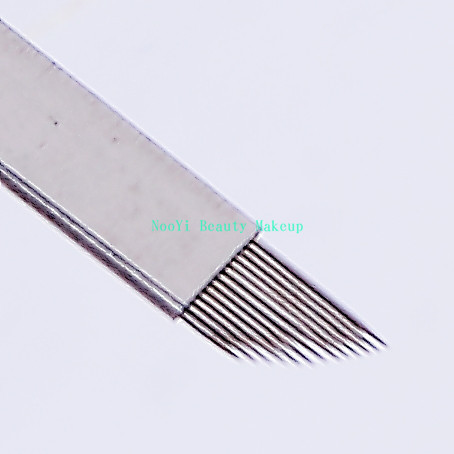 50Pcs 13-Pin Flat Manual Needles For Eyebrow Permanent Makeup Good Quality Handmade Tattoo Pen Needles Free Shipping