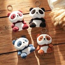 20bae91090bca جميل الباندا الحيوان دمى 10 CM الطفل ألعاب من القطيفة 4 ألوان مفتاح سلسلة  قلادة عصابة ألعاب من القطيفة أطفال هدية