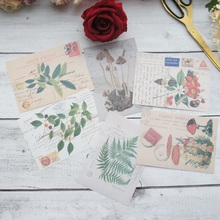6 sheets/lot 10.5*12.8cm  DIY mail you a plant pattern paper sticker wrapping creative craft background scrapbooking decor