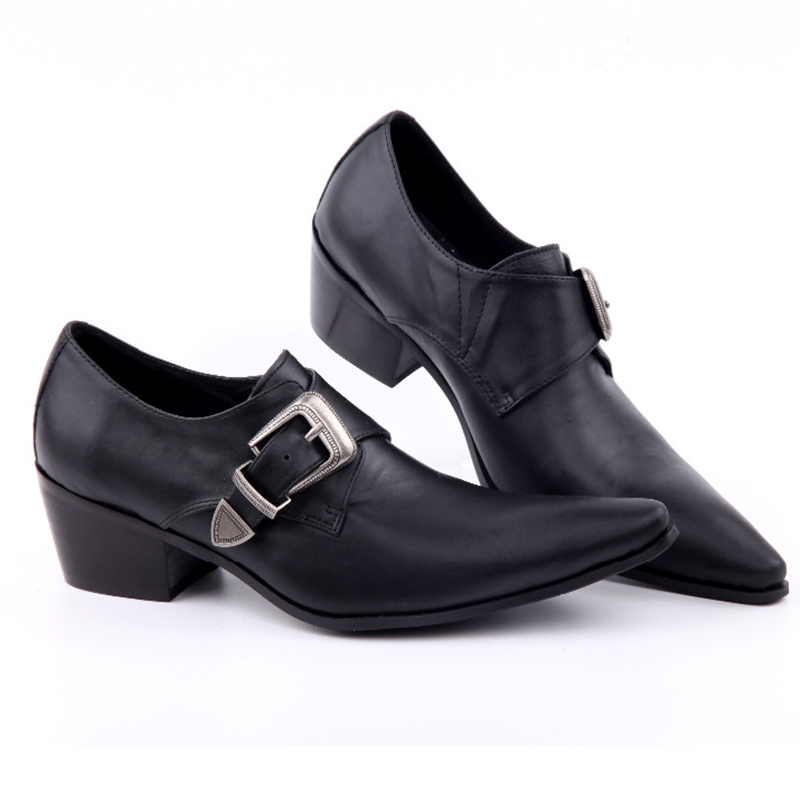 Formais Zapatos De Genuíno Negócios Preto Vestido 6 Couro Hombre Cm Inceased Altura Oxfords 5 Homens Sapatos qw6aP