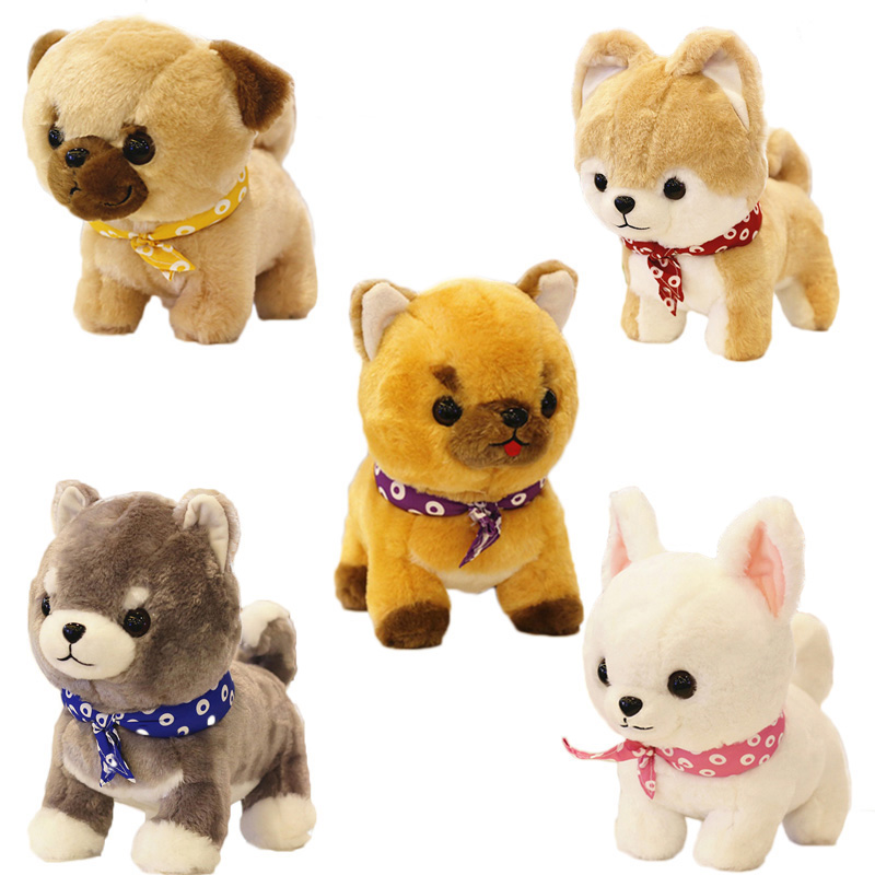 1pc 29/35cm Cute Shiba Inu Akita Dog Plush Toys Stuffed Soft Imitation Dog Cartoon Doll Creative Birthday Gift For Kids Children