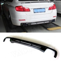 Carbon Fiber Rear Bumper Diffuser Lip Spoiler for BMW 5 Series F10 F18 2012 2017