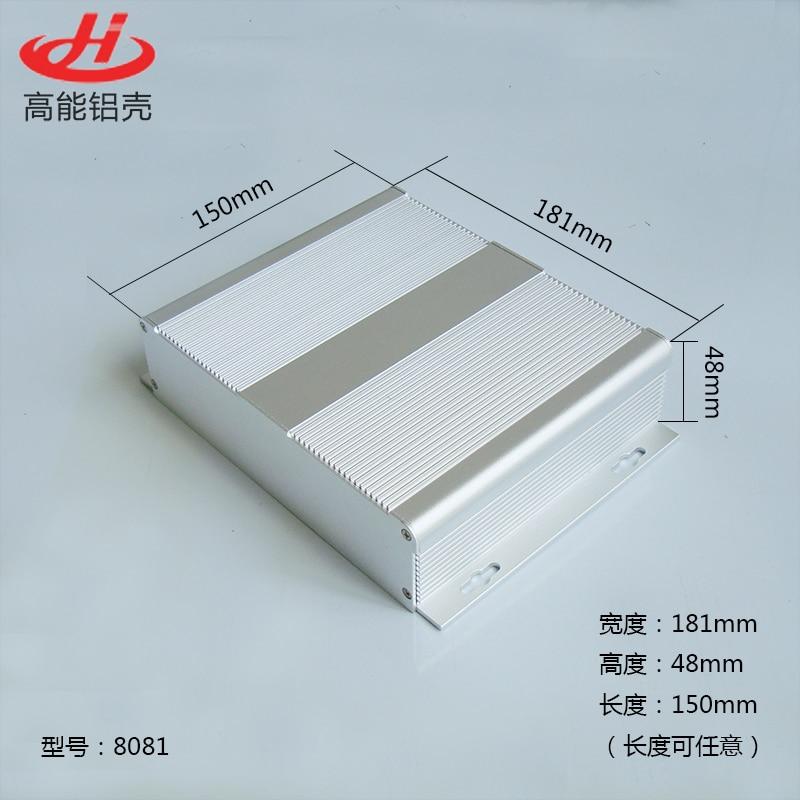 1 pièce boîtier en aluminium de couleur glissante pour boîtier de projet électronique 181*48*150mm 8081