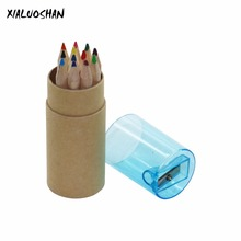 Kid Painting Stationary Supplies 12 Colors Drawing Writing Wooden School Student Artist Colored Pencils Box Drawing