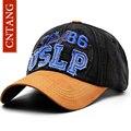 Uslp cntang carta bordado boné de beisebol para os homens primavera verão casual cotton chapéus moda snapback tampões do esporte dos homens do vintage