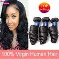 100% Unprocessed Human Hair Extension Good Quality Tangle Brazilian Virgin Hair Loose Wave 3 Bundles Grade 7A Human Hair Bundles