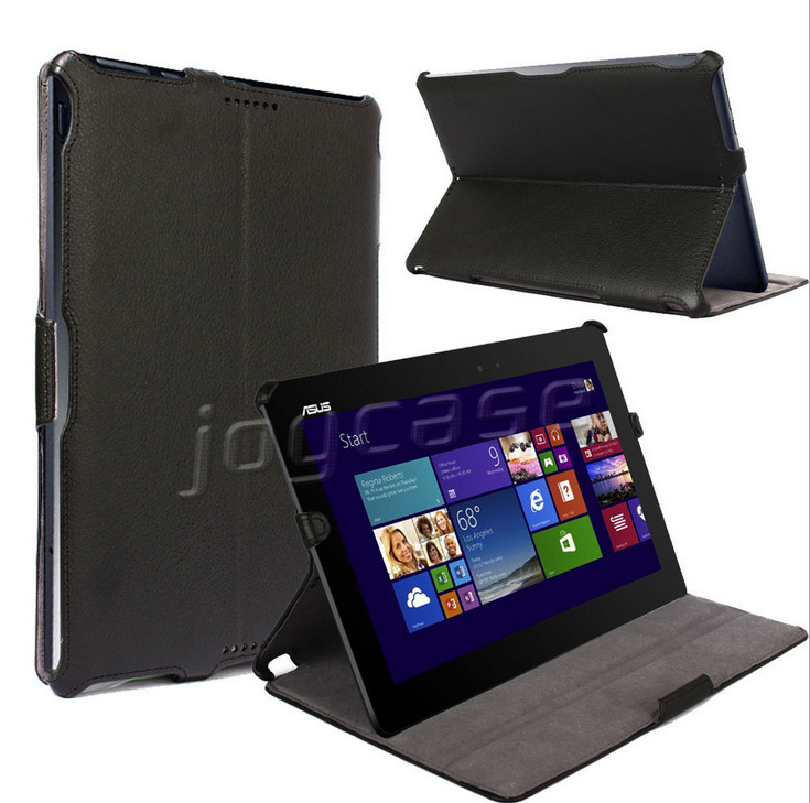 HOT Press Stand Leather Cover Case For ASUS Transformer Book T100TA Leather Case +screen protectors