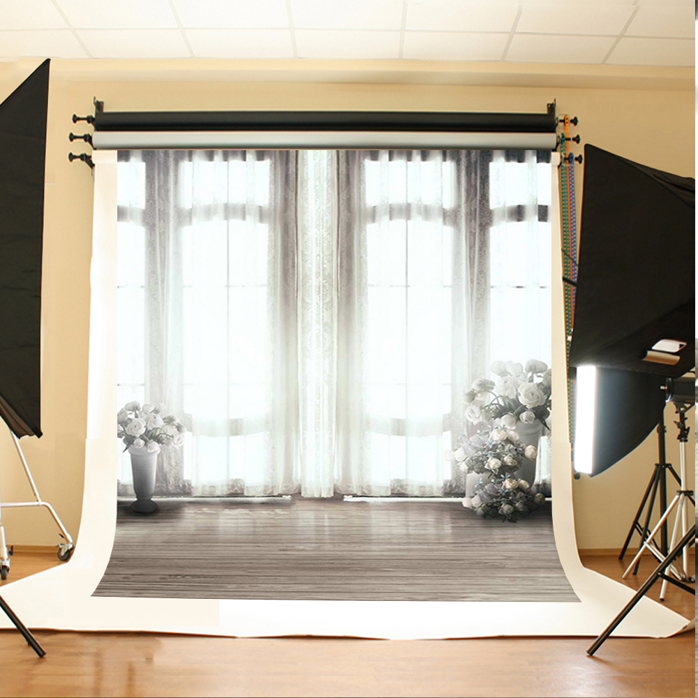 Bright Windows Wood Floor Photography Backdrops Background for Photo Studio Wedding Background Backdrops Fotografia Custom Made simple wave photography backdrops 3x5ft newborn boy birthday photography background custom made fotografia