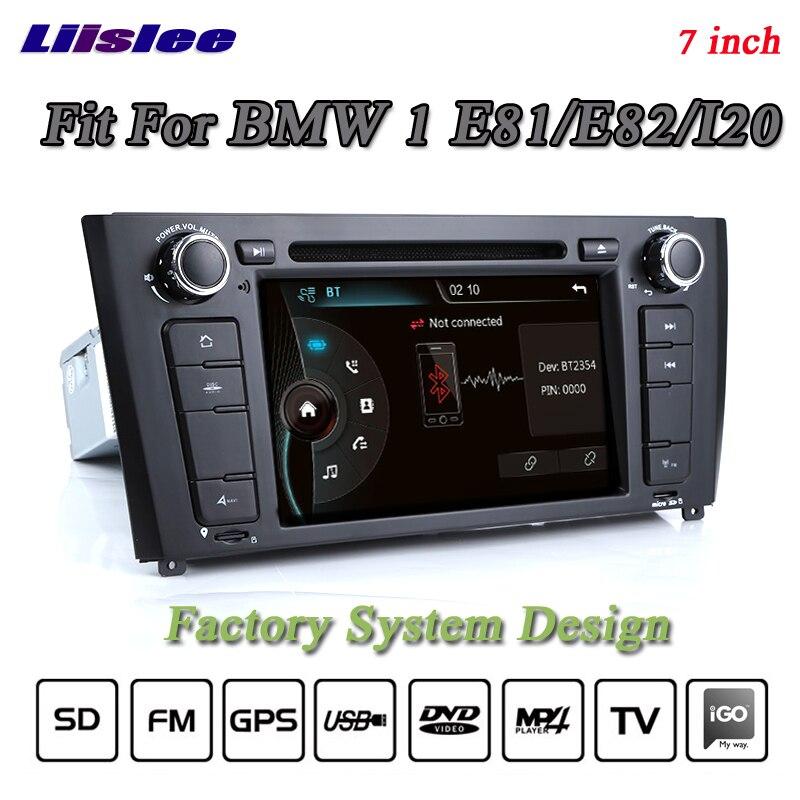Liislee для BMW 1 E81 E82 I20 стерео радио 3G BT CANBUS dvd-плеер GPS навигационная карта 1080 P HD экран Системы оригинальный nav Дизайн