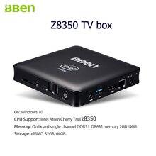 5pcs Bben TV Stick Quad Core Mini PC TV Box Bluetooth 2GB RAM 32GB 1.44GHz-1.92GHZ windows10 intel z8350 cpu