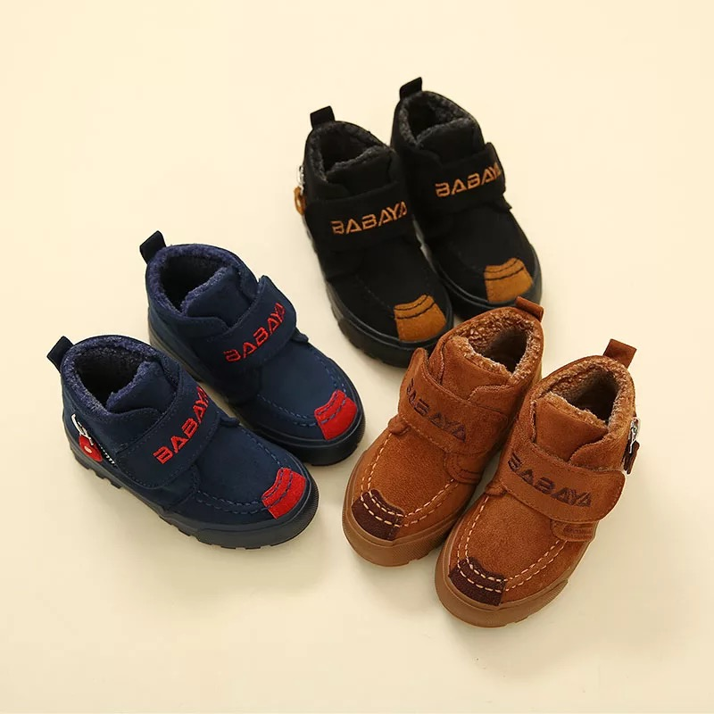 2016 brand design Winter fashion warm soft solid flock casual sport  boys flats sneaker kids children ankle snow boots boy shoes kids boots 2016 winter warm shoes children s casual shoes boys comfort snow boots boy casual boots size 26 37
