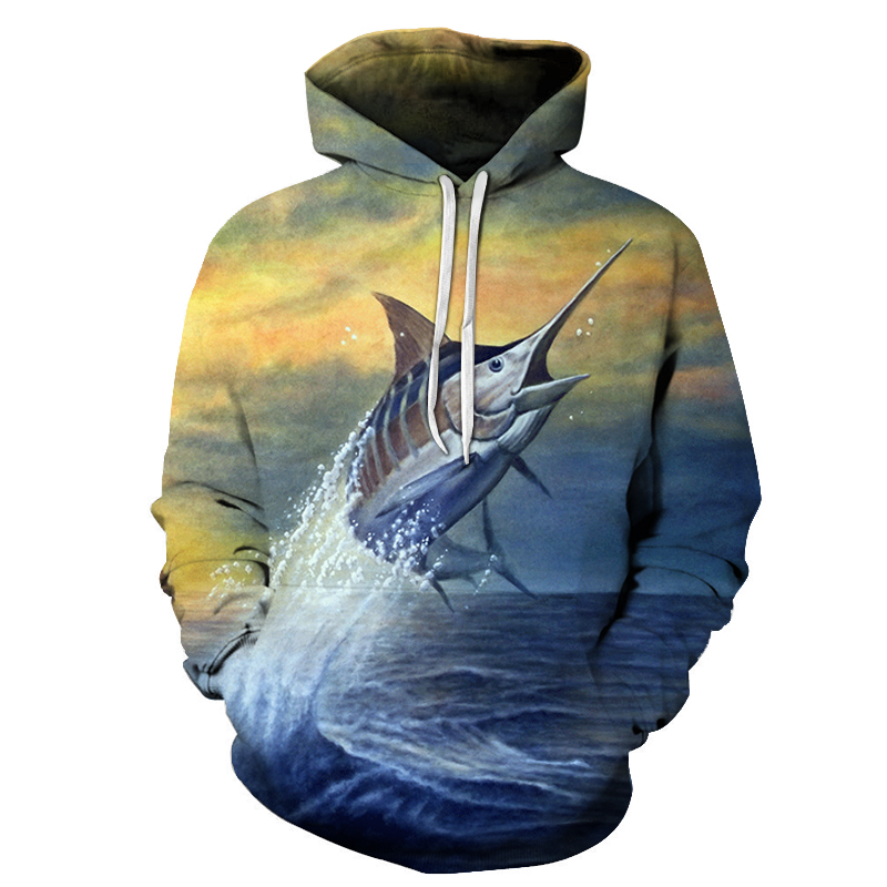 New Print Hoodies Men 3d funny fish women Anime MaleSweatshirts Pullover Tracksuits Drop Ship ZOOTOP BEAR Brand Banana fish