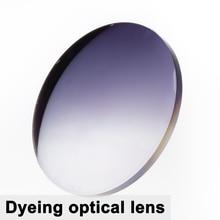 Un par de lentes teñidos miopía lentes esféricos CR 39 prescripción presbicia lentes UC recubrimiento Anti radiación 1,56 índice