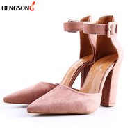 Fashion Ladies High Heels Female Zapatos Mujer Pointed Toe Pumps Women Shoes Woman Party Ankle Strap