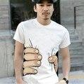 Cobre T dos homens 2017 Novo Verão de Algodão Pegar Suas Mãos Grandes o-pescoço Cópia Da Mão 3D Melhores Amigos t camisa Dos Homens Moda YJSY007