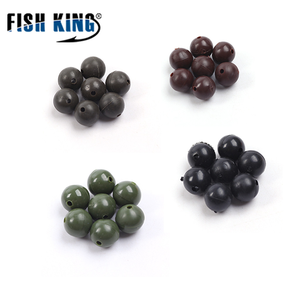 FISH KING 100pcs/lot Fishing Beads Feeder Parts Fishing Hook Components Carp Bait Cage Stoppers Carp Beads Fishing Tackles 630