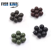 FISH KING Fishing Beads Feeder Parts Fishing Hook Components Carp 100 pcs/lot Bait Cage Stoppers Carp Beads Fishing Tackles 630(China)