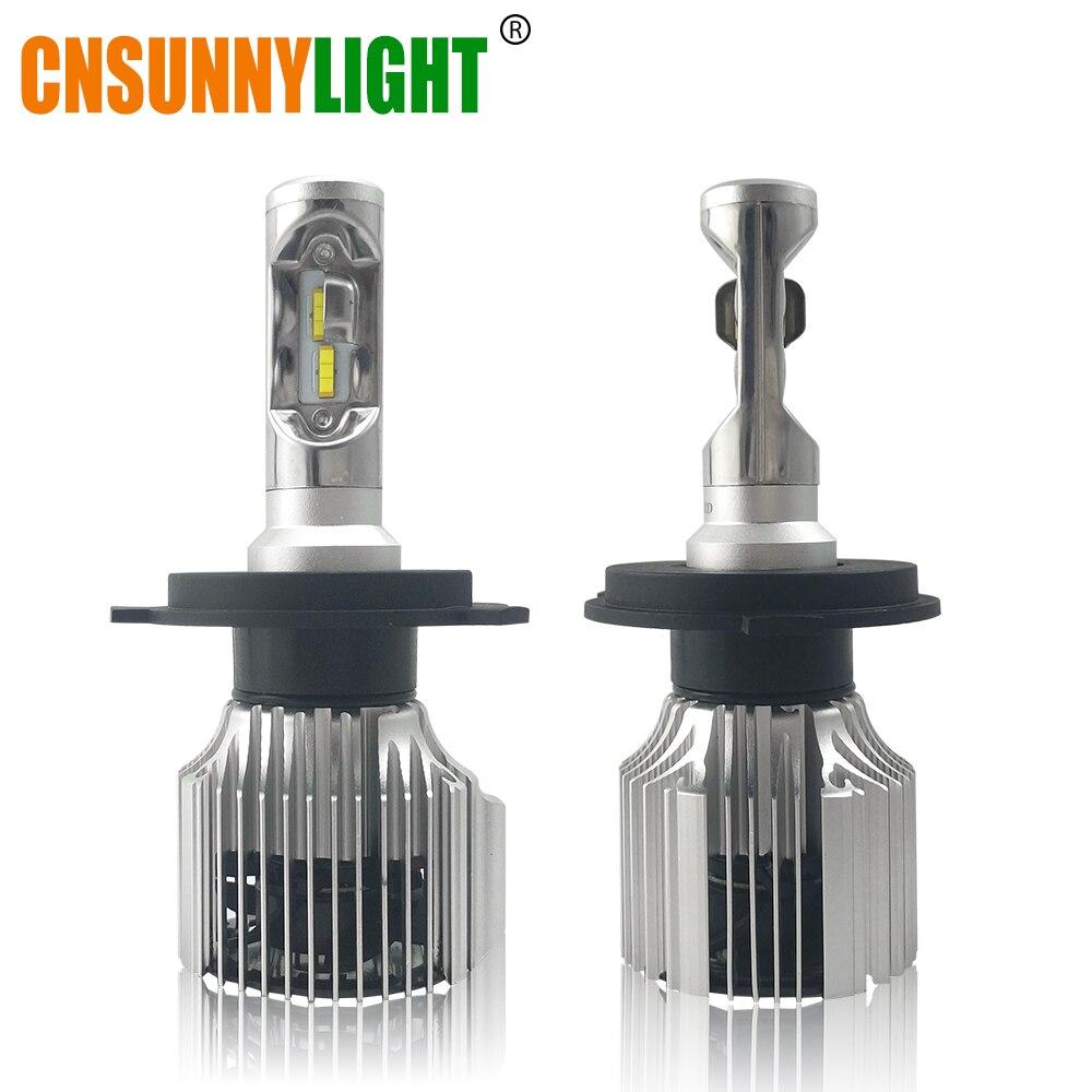 CNSUNNYLIGHT Carro LEVOU Lâmpadas Dos Faróis H7 Tudo em Um H11 H1 H3 880 9005 9006 H4 H13 9012 5202 72 W 8500LM 9007 High Low Feixe Luzes