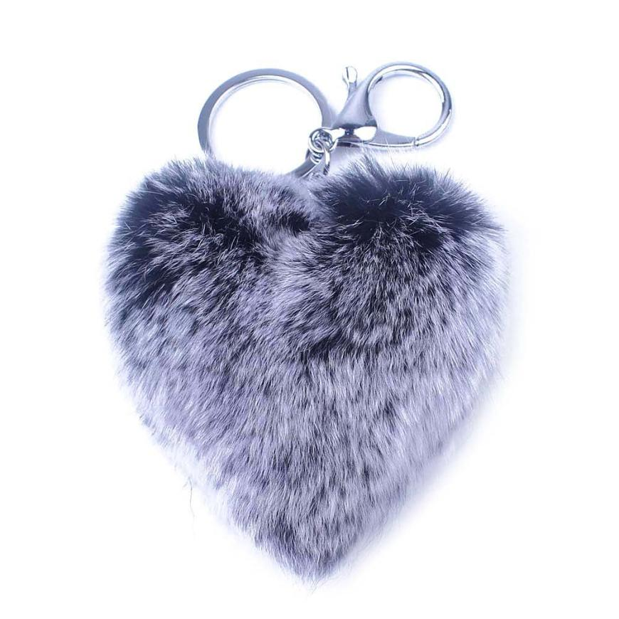 2018 HOT SALE the New Cute Rabbit Fur Key Chain for Car Key Ring or Bags Key Rings YYH# best price Vicky