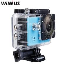 Wimius Action Sports Камеры 4 К Ультра Wi-Fi 2.0 дюймов Объектив 16MP 1080 P Full HD Mini Шлем Автомобильный ВИДЕОРЕГИСТРАТОР Открытый Cam идти Под Водой 40 М Pro