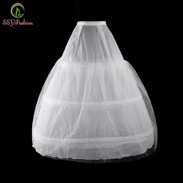 SSYFashion Bride Petticoats Wedding Accessories 3 Laps 1 Yarn Bandage Lining Underskirt  Free Shipping