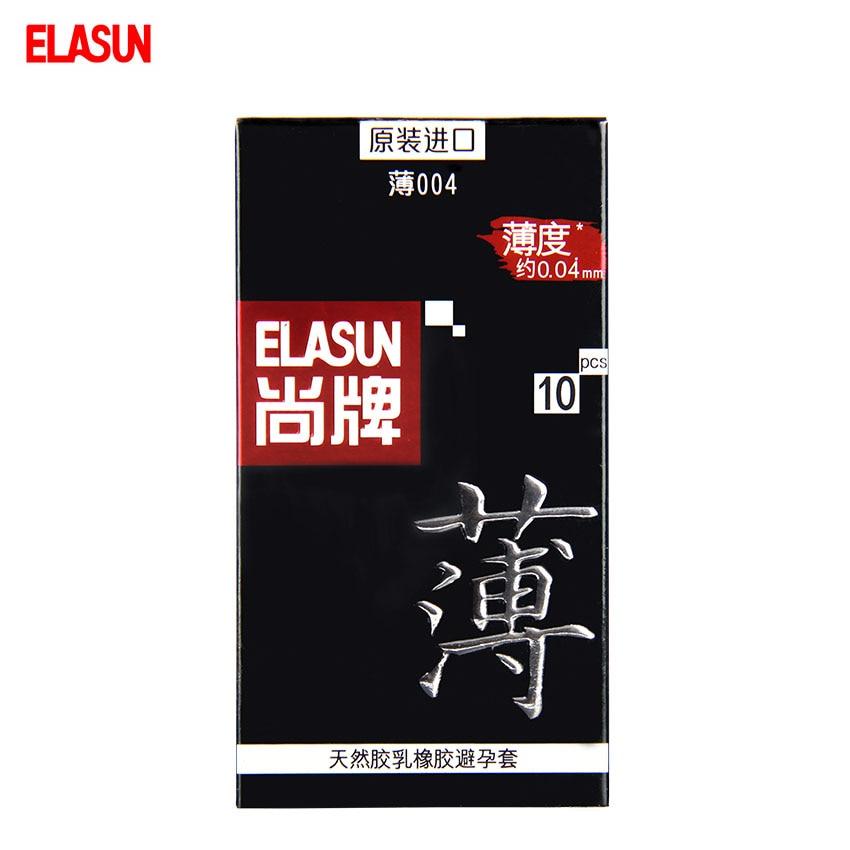 ELASUN 10 pcs 004 Series Ultra Thin font b Condoms b font for Men Large Oil