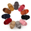 2016 New pu suede Leather Baby Moccasins Shoes solid lace up Baby boys girls Shoes Newborn first walker Infant baby Shoes