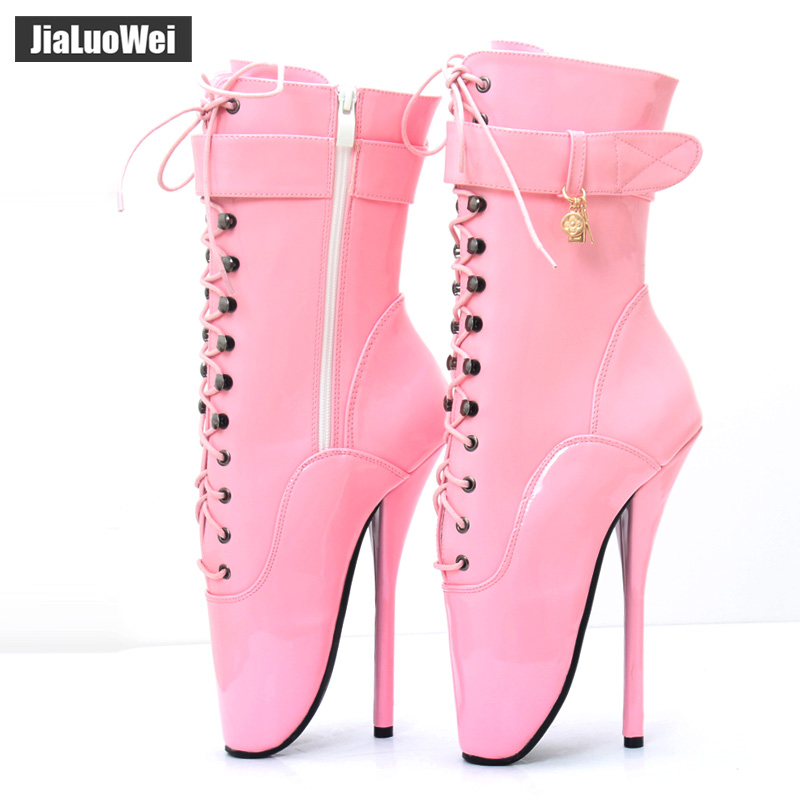 f1195b0d04 ... Talon purple Ballet Red Spike Shiny Bottines attaché toe Shiny  Chaussures Couleur rose Matt pink 7