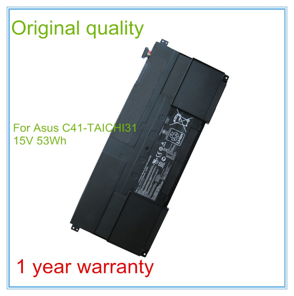 Original New Laptop Battery for TAICHI31 Battery C41-TAICHI31 53WH 3535mAh