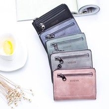 Женские кошельки, маленький мини безопасный кошелек для денег, ID, кредитный держатель для карт, портмоне, Одноцветный Кошелек Carteira Mulheres, Женский кошелек для монет F399
