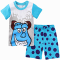 Kids Cute Short Pajamas Set Girls Sofia Summer Clothes Sets Boys Minion T-shirt+Pants Suit Clothing Baby Minnie Children Clothes
