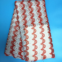 Milk Silk Double Color High Quality African Lace Water Soluble Embroidery Guipure Cord Lace Fabric For