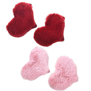 M MISM 2PCS New Lovely Cute Fluff Heart Hairpins Hair Accessories Ornaments Head Wear Hair Clips for Kids Hairgrips Girls Women