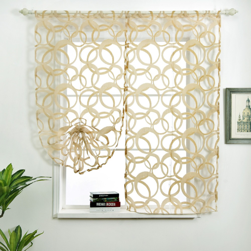 Rod Pocket Roman Curtains Cheap Kitchen Curtains For Window Geometric Short  Curtains Draperies Modern Curtains Several Colors In Curtains From Home U0026  Garden ...
