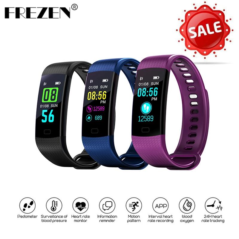 FREZEN Y5 Smart Band Watch Screen Wristband Heart Rate Activity Fitness tracker Smartband Electronics Bracelet IP67 Waterproof