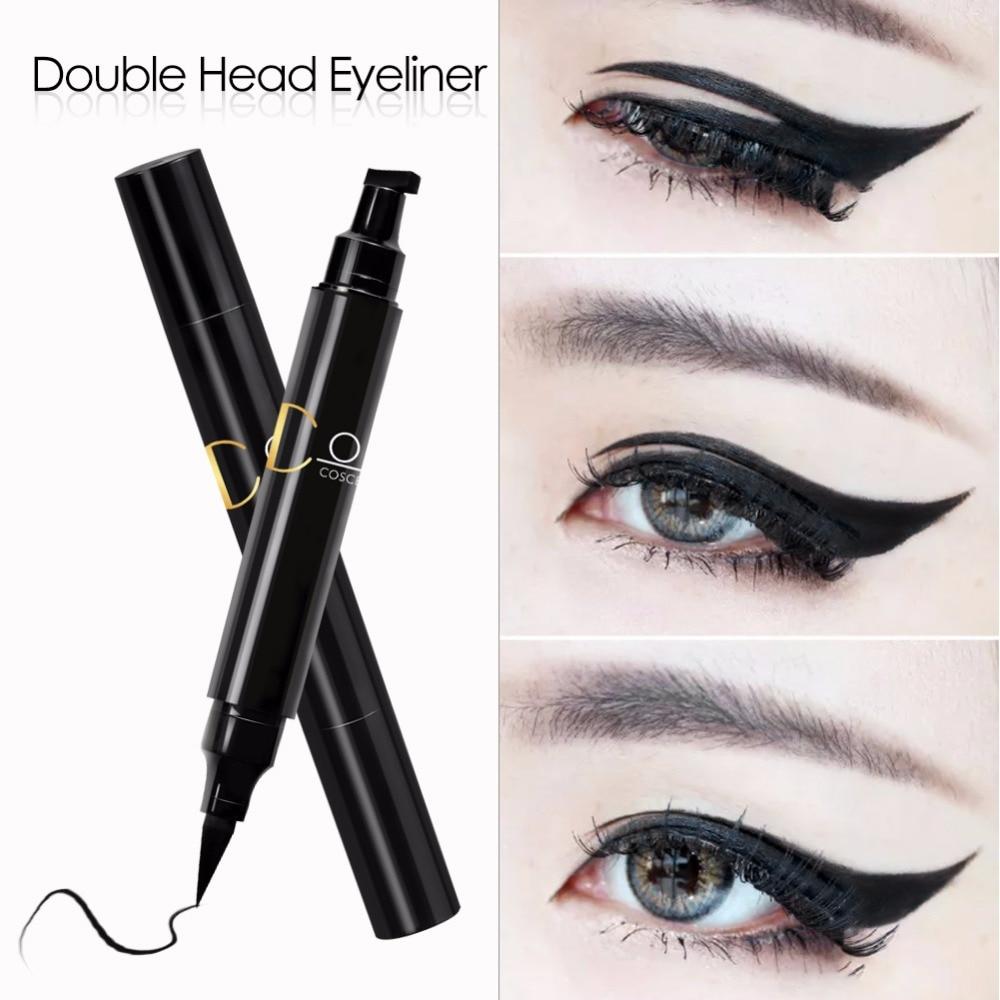 COSCELIA 1 Pc Double-Headed Seal Black Eyeliner 2