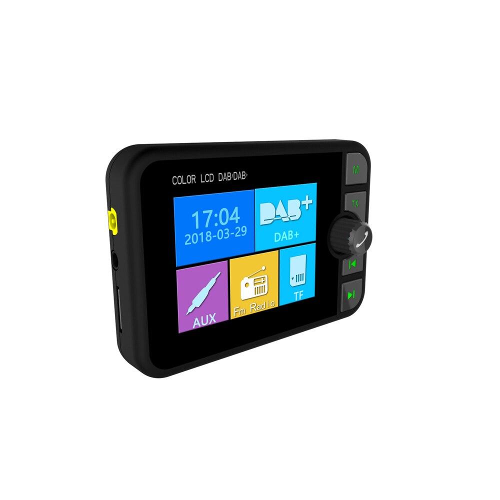Image 4 - JINSERTA Mini DAB Radio Receiver Colorful TFT Bluetooth FM  Transmitter MCX Antenna 3.5mm Jack Audio Output DAB Tuner Support  TFRadio
