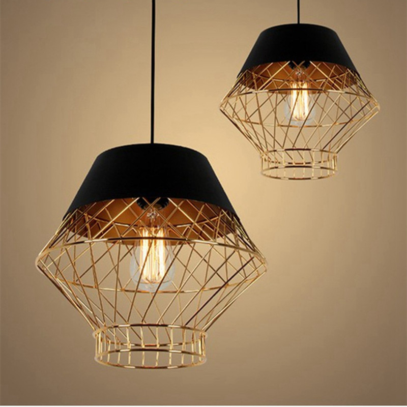 American country LOFT Iron Cage Pendant Light Study Bedroom Bar Livingroom Restaurant Cafe Decoration Lamp Free Shipping