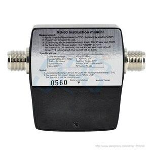 Image 2 - RS 50 디지털 SWR/와트 미터 NISSEI 125 525MHz UHF/VHF M 유형 커넥터 TYT Baofeng LED 스크린 라디오 전원 카운터