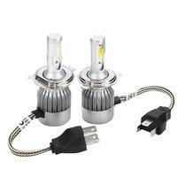 CO LIGHT H4 COB LED Headlight Cool White 6000K 8 48V 72W 7600LM Auto Car LED