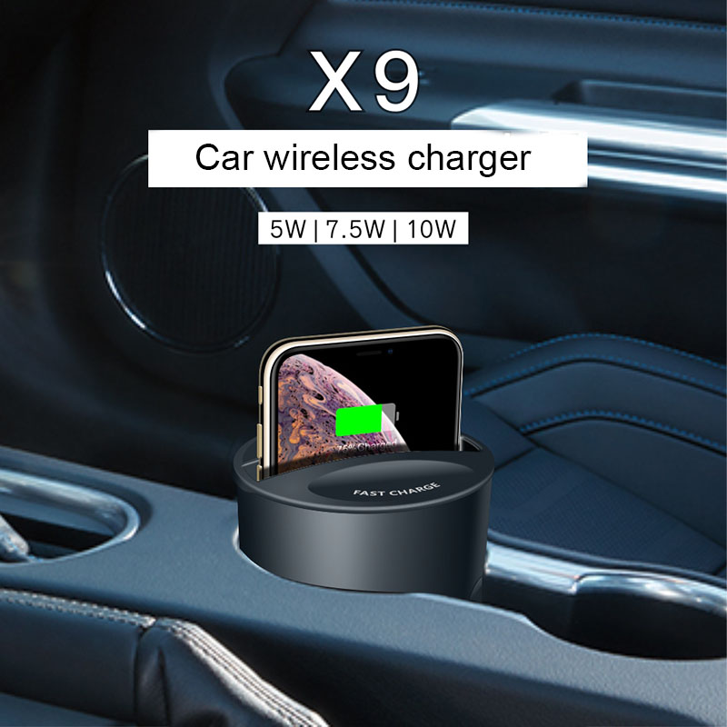 Fast-Charger-Cup Holder Apple Wirless-Charging Qi-Car iPhone Note10/9 for MAX/XR XS