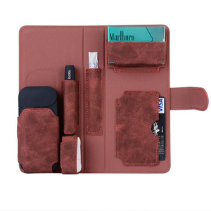 Image 5 - GIRLWOMAN Case for IQOS 2.4 PLUS Wallet Pouch Bag Protective Holder Cover Box Wallet Case Electronic Cigarette PU Leather Case